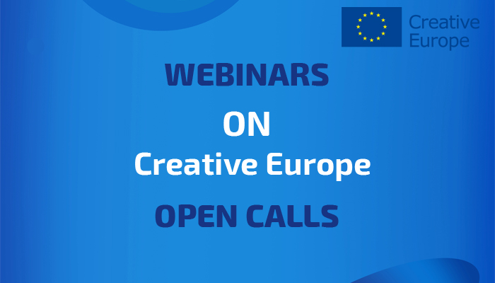 Новина: Webinars on Creative Europe open calls