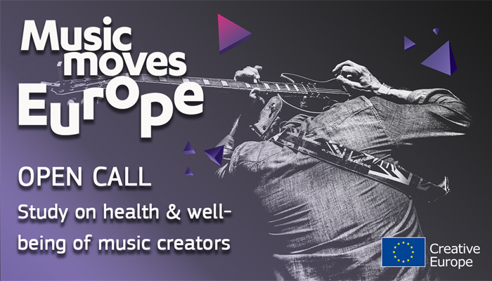 "Новина: Open call: ""Music Moves Europe: Study on the Health and Well-being of Music Creators"""